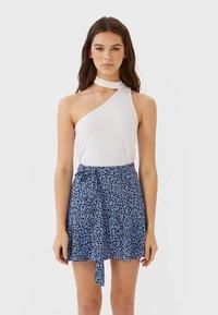Stradivarius - SKORT - A-line skirt - blue - 0