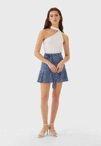 Stradivarius - SKORT - A-line skirt - blue - 1