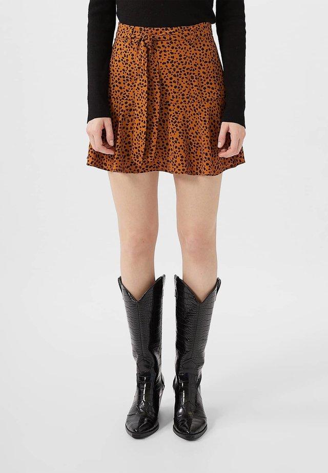 SKORT - A-snit nederdel/ A-formede nederdele - brown