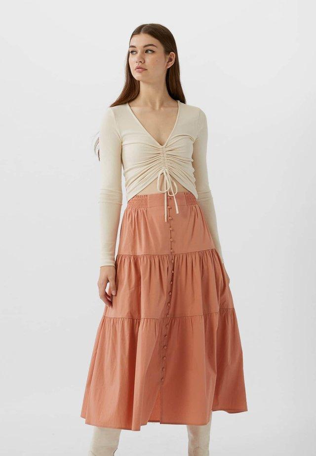 A-snit nederdel/ A-formede nederdele - bordeaux