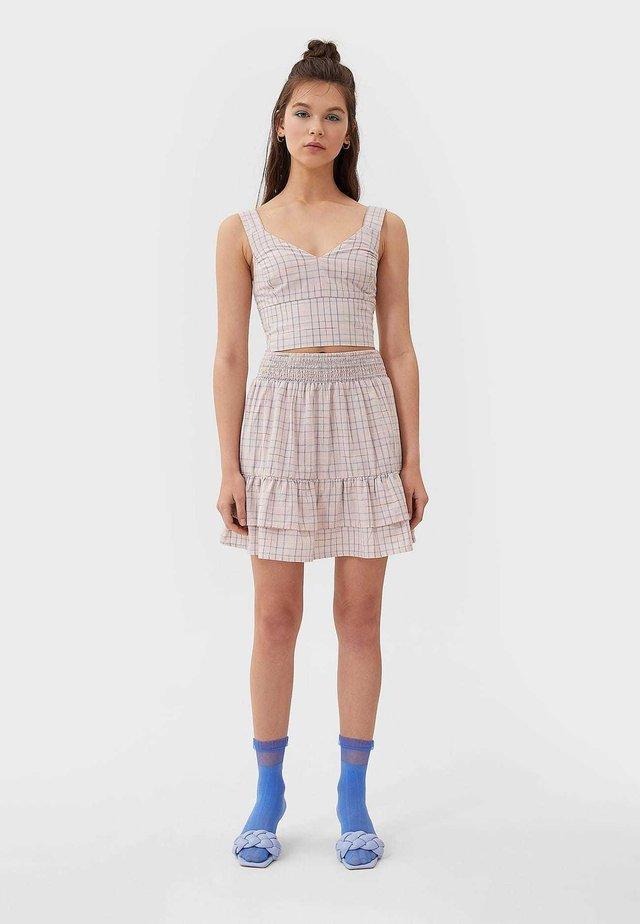 MIT VOLANTS - A-snit nederdel/ A-formede nederdele - beige