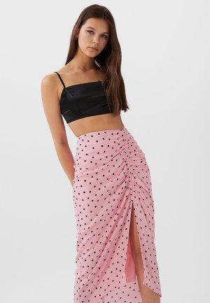 Maxi sukně - rose