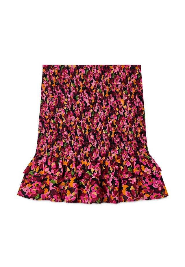 Pliceret nederdel /Nederdele med folder - pink