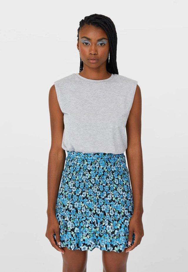 Pliceret nederdel /Nederdele med folder - light blue