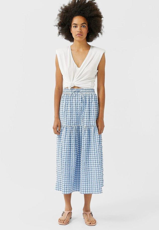 MIT VICHYKAROS - A-snit nederdel/ A-formede nederdele - blue