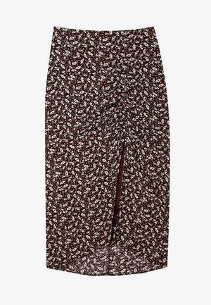 GERAFFTER - Pencil skirt - brown