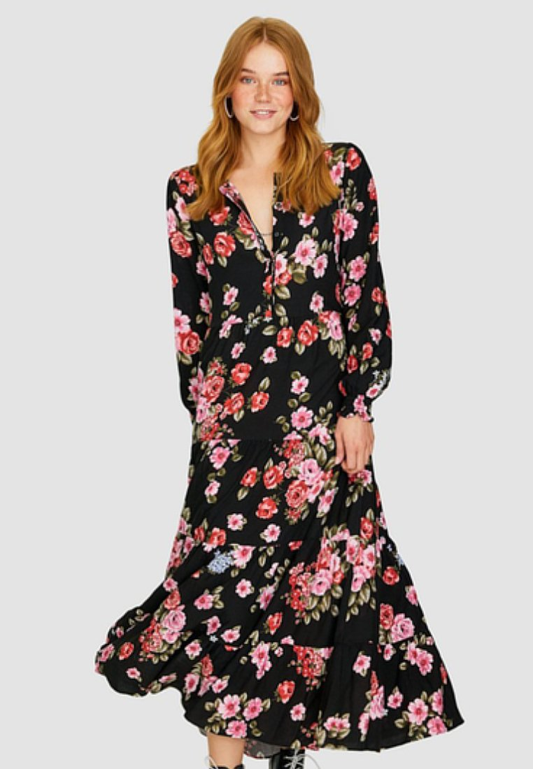 Stradivarius - Maxi dress - black
