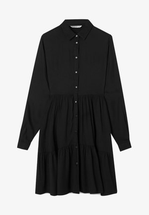 MIT VOLANT  - Shirt dress - black