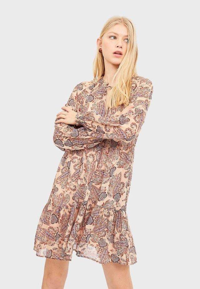 MIT BLUMENPRINT - Vapaa-ajan mekko - beige