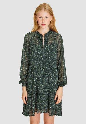 MIT BLUMENPRINT - Day dress - green
