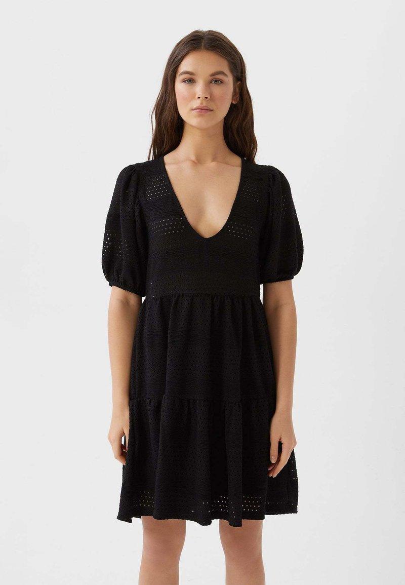 Stradivarius - Korte jurk - black