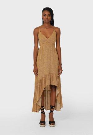 Długa sukienka - mustard yellow