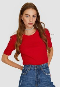 Stradivarius - T-shirts basic - red - 0