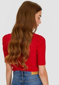 Stradivarius - T-shirts basic - red - 2