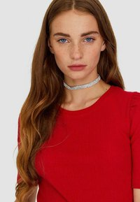 Stradivarius - T-shirts basic - red