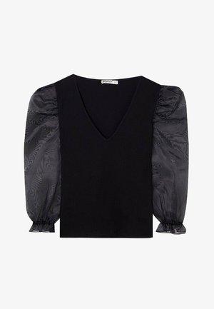 MIT BALLONÄRMELN  - Blus - black