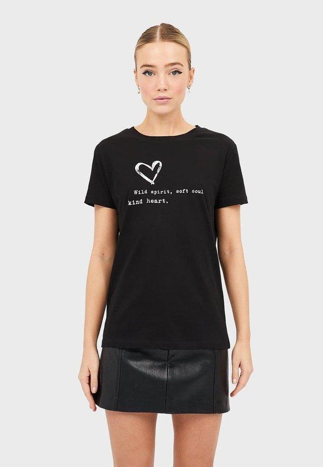 MIT PRINT  - T-Shirt print - black