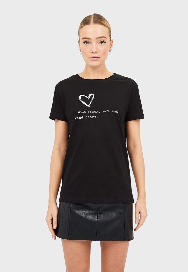 Stradivarius - MIT PRINT  - T-shirt print - black