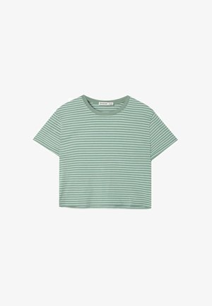 CROPPED-SHIRT 02505582 - T-shirt med print - green