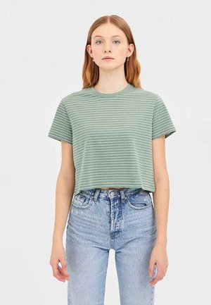 CROPPED-SHIRT 02505582 - Print T-shirt - green