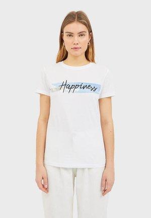 T-SHIRT MIT PRINT 02594563 - T-shirt con stampa - white