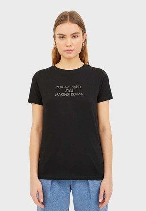 T-SHIRT MIT PRINT 02594562 - T-shirt print - black