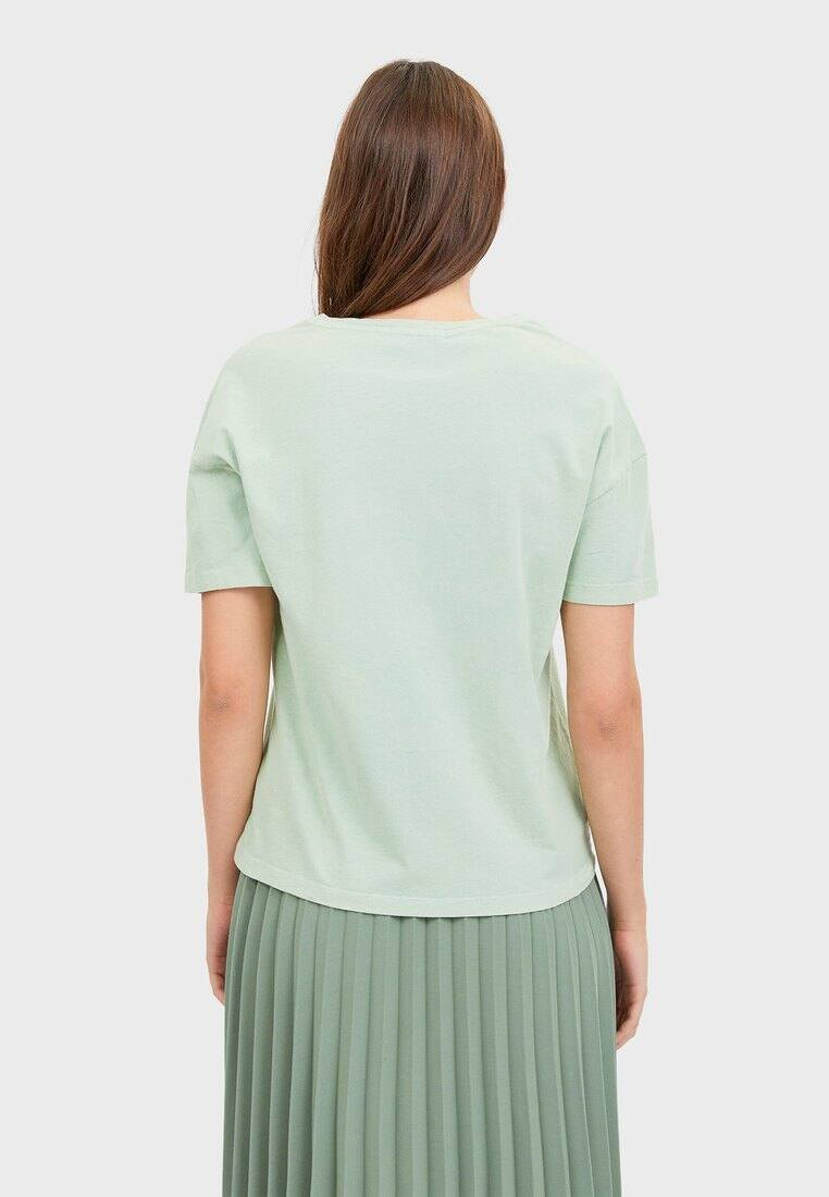 Stradivarius Shirt Mit Smileys 02602703 - Print T-shirt Turquoise