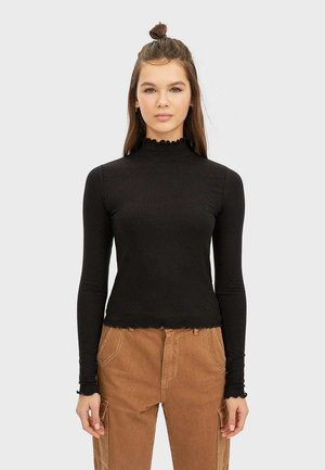 07001104 - Long sleeved top - black