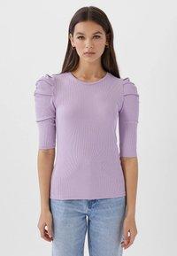Stradivarius - T-shirt imprimé - purple - 0