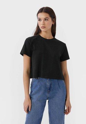 MIT KURZEN ÄRMELN - T-shirt basic - black