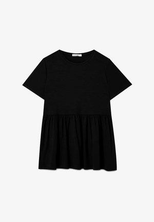 BASIC-PEPLUM - T-shirt con stampa - black