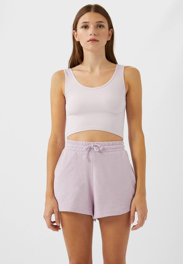 CROPPED - Toppe - purple