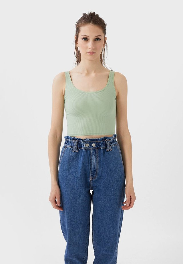 CROPPED - Toppe - turquoise