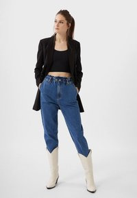 Stradivarius - CROPPED - Toppi - black - 1