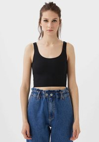 Stradivarius - CROPPED - Top - black - 0