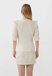 Stradivarius - T-shirt imprimé - white - 2