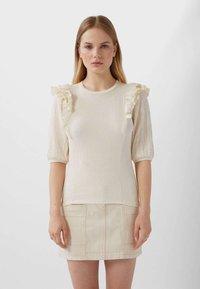 Stradivarius - T-shirt imprimé - white - 0