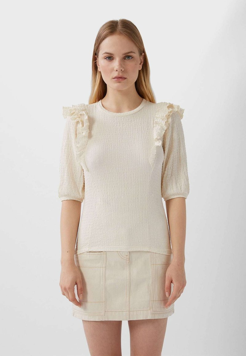 Stradivarius - T-shirt imprimé - white