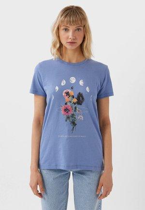 MIT PRINT  - T-shirt con stampa - blue