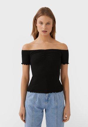MIT RAFFUNG - T-shirt z nadrukiem - black