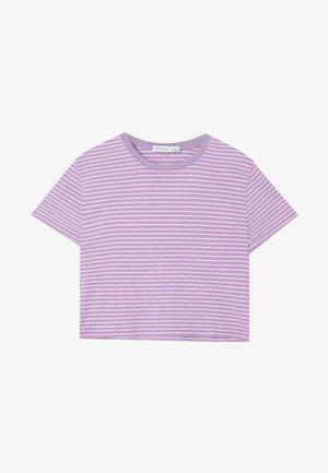 MIT STREIFEN 02505585 - T-shirt con stampa - purple