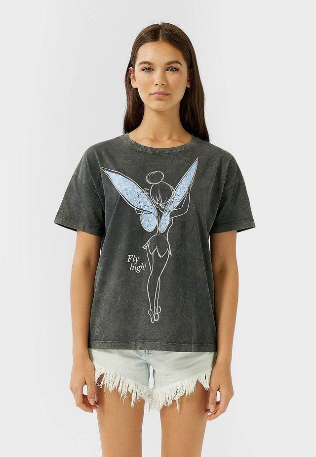 TINKERBELL - T-shirt z nadrukiem - dark grey