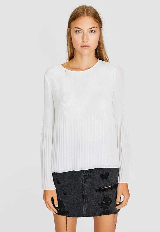 PLISSÉE - Bluser - white