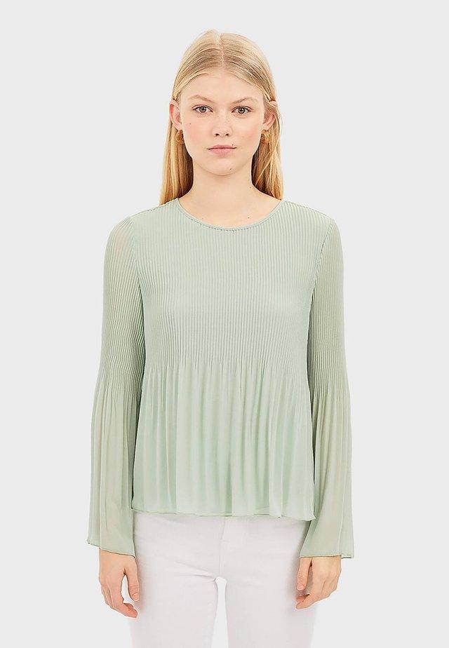 PLISSÉE - Bluser - turquoise