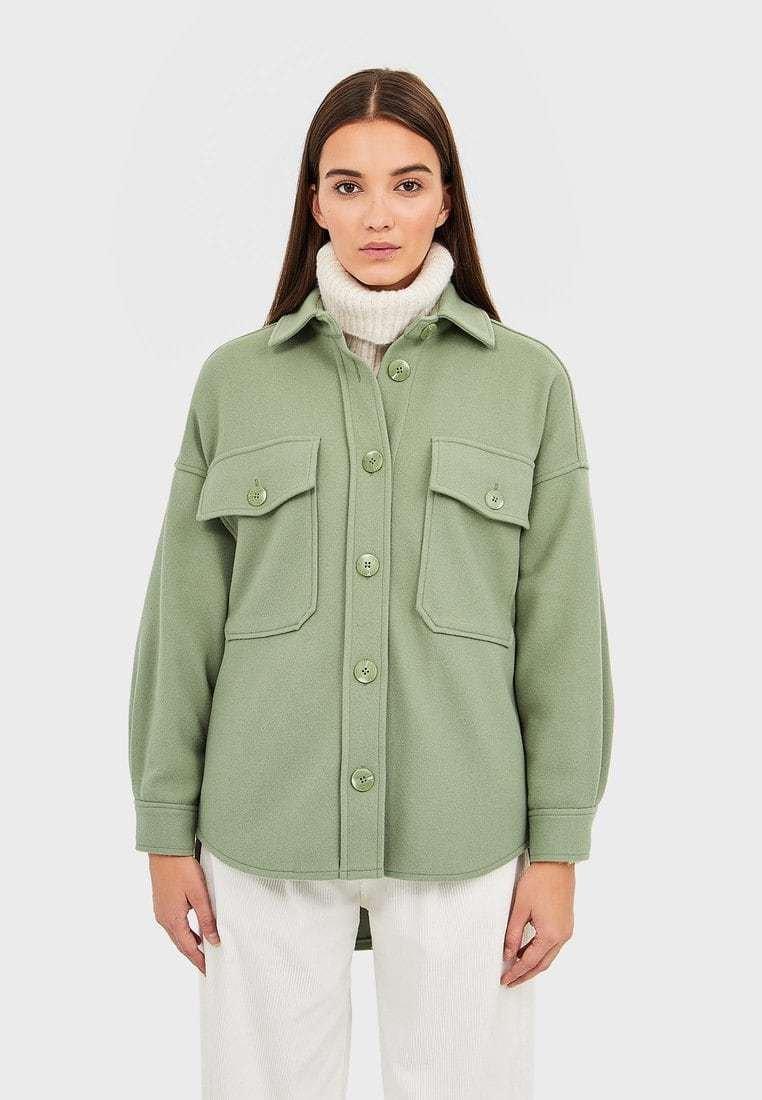 Stradivarius - Summer jacket - green