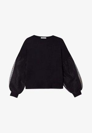SHIRT MIT BALLONÄRMELN 02595438 - T-shirt à manches longues - black