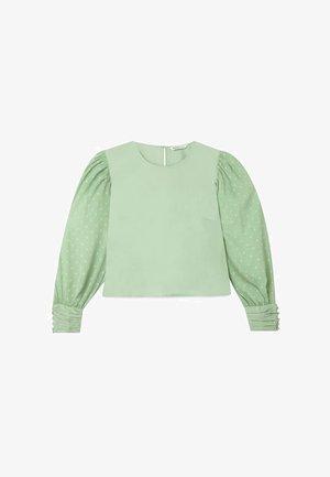 POPELINHEMD MIT PLUMETIS-ÄRMELN 02040579 - Blouse - turquoise