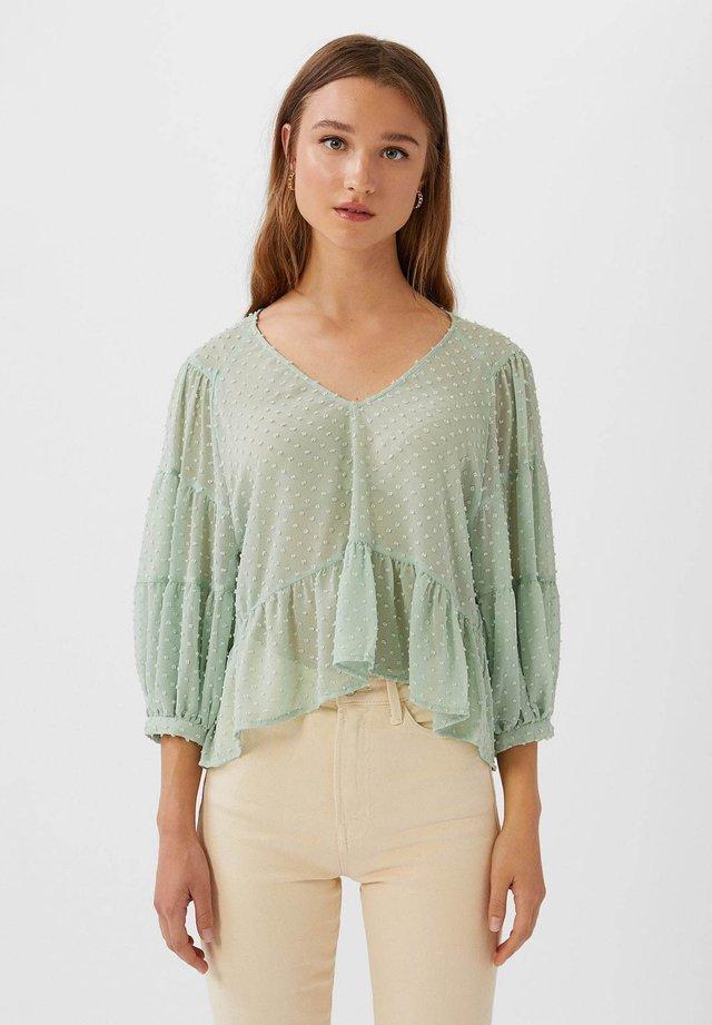 PEPLUM - Bluser - turquoise