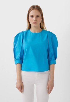 MIT 3/4-ÄRMELN  - Blouse - blue