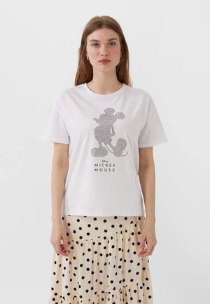MIT MICKEY-LOGO  - T-shirt imprimé - white